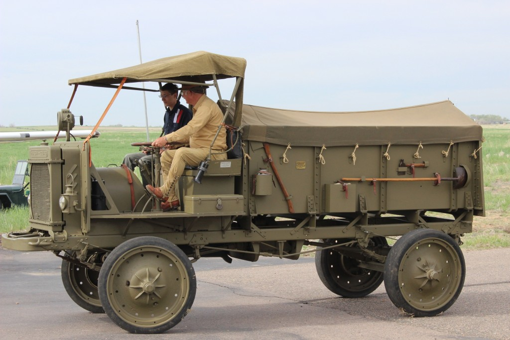 Ben takes a ride on a WW I aummunition wagon