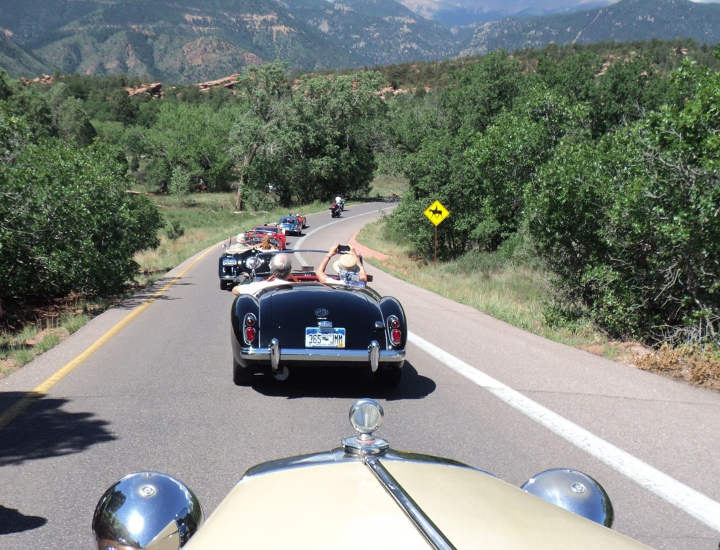 On the road; following the Sass's MGA